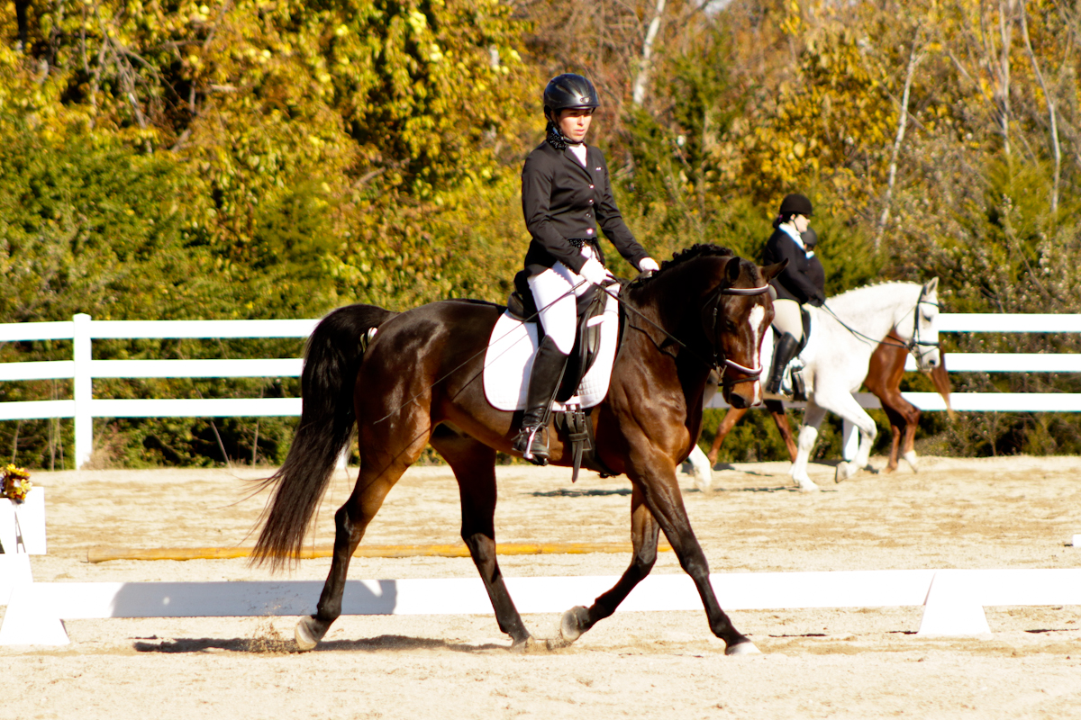 CB and Lauren competing in dressage at a USEA Horse Trial.
